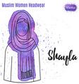 Muslim Women Headwear vector image