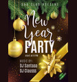 new year party poster luxury gold invitation for vector image