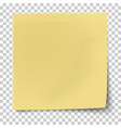 office yellow paper sticker with bent corner vector image vector image