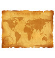 old vintage world map ancient manuscript grunge vector image