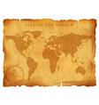 old vintage world map ancient manuscript grunge vector image vector image
