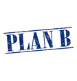 plan b blue grunge vintage stamp isolated on white vector image vector image