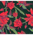 seamless background flowers and hummingbirds vector image vector image