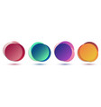set colorful gradient circles badges isolated vector image
