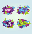 set of geometrical sale flyers isolated on vector image