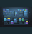 set of hud infographic panels head-up display vector image vector image