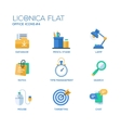 set of modern office flat design icons vector image
