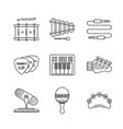 set of musical instrument icons and concepts in vector image