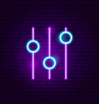 setting neon sign vector image vector image