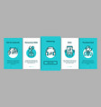 singing song elements onboarding vector image vector image