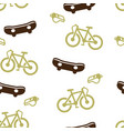 skateboard bike whistle pattern seamless isolated vector image