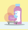 soap and bottle shampoo clean bathroom vector image vector image