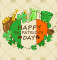 St Patricks Day greeting card vector image vector image