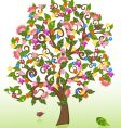 summer abstract floral tree vector image vector image