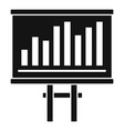 tax chart bars icon simple style vector image vector image