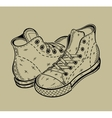 The image of sneakers Sport shoes vector image vector image
