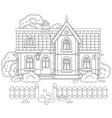 Toy village house vector image