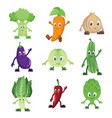 vegetables characters vector image