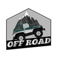 vintage off road car logo template mountain vector image vector image
