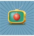 Vintage TV vector image vector image