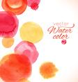 Watercolor painted splash circles texture vector image vector image