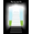 way to new life vector image vector image