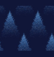 winter seamless pattern with fir trees and pines vector image vector image