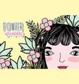 woman power girl cartoon vector image vector image