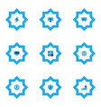 work icons colored set with protection gear vector image