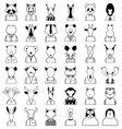 Line animals icon vector image