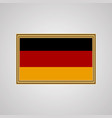 flag of germany in a golden frame vector image