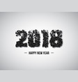 2018 abstract numeric new year concept vector image vector image