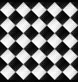 abstract black and white seamless circle pattern vector image vector image