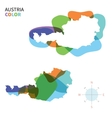 Abstract color map of Austria vector image vector image
