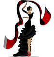 abstract flamenco with scarf vector image vector image
