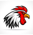 angry rooster head design vector image