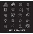 arts graphics editable line icons set on vector image