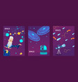 astronomy banners space vector image