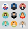 Avatar icons in flat design vector image vector image