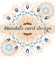 business mandala design cards vector image vector image