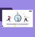 business time management concept landing page vector image