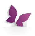 butterfly icon paper vector image vector image