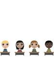 cartoon children in school board vector image vector image