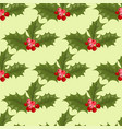 christmas decorative leaves holly branches with vector image vector image