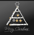 christmas tree design - holiday background vector image vector image