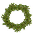 Christmas wreath Traditional wreath from branch of vector image vector image