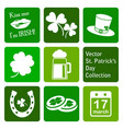collection st patricks day icons vector image vector image