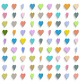 Colorful paper hearts vector image vector image