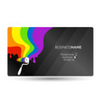 coloring business card concept vector image vector image