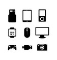 computer electronic technology icon set image vector image vector image